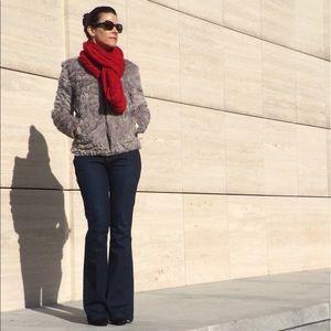 H&M Gray Faux Fur Jacket
